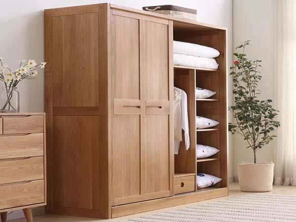 Tủ quần áo gỗ sồi hiện đại