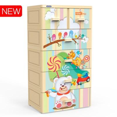 Tủ quần áo trẻ em nhựa Duy Tân wing 4C