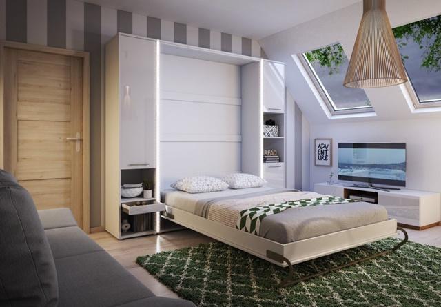 Giường gấp kết hợp tủ quần áo đa năng