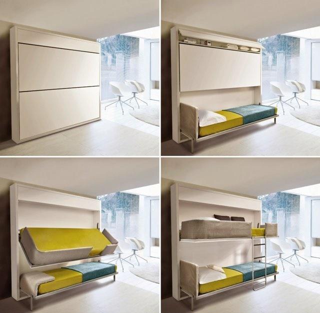 Mẫu giường gấp 2 tầng tiết kiệm không gian