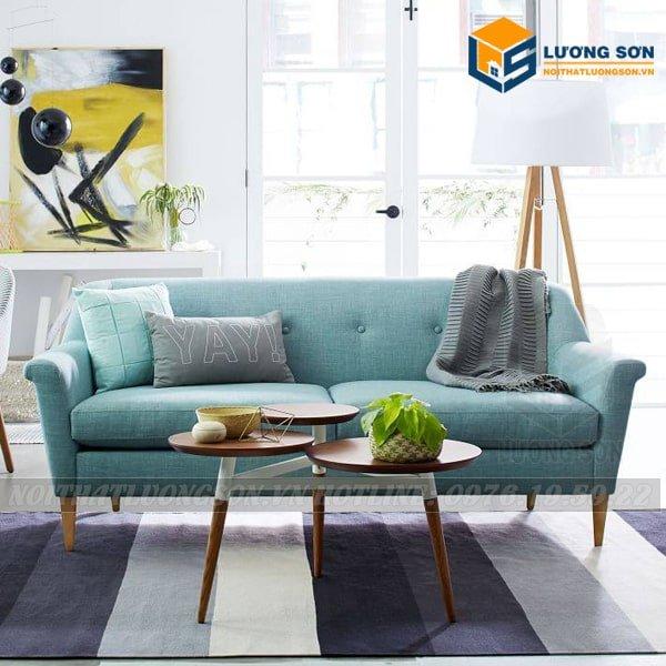 Sofa giá rẻ SFV09 màu xanh hiện đại