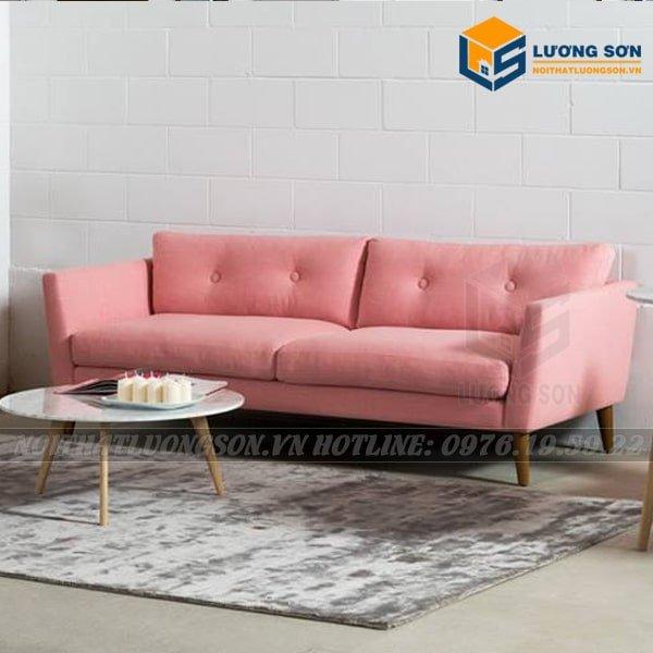 Ghế sofa Lương Sơn giá rẻ FV25 màu hồng độc đáo