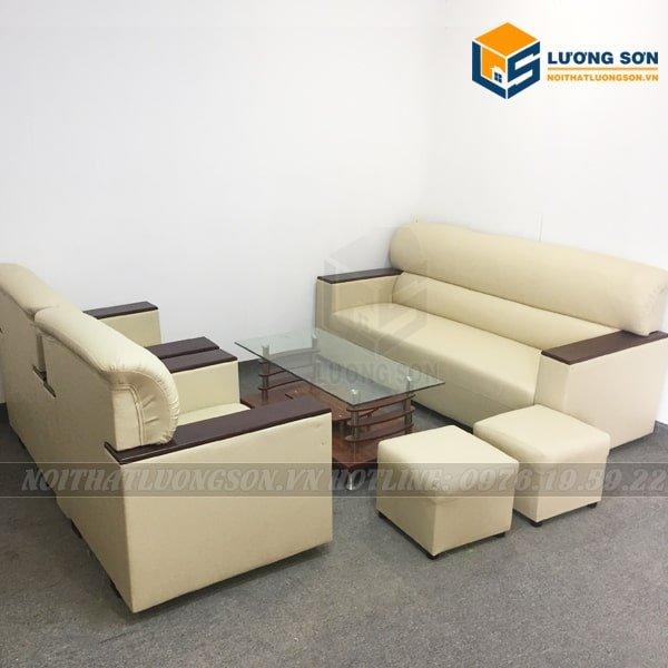Sofa da SFD08 phù hợp cho không gian văn phòng
